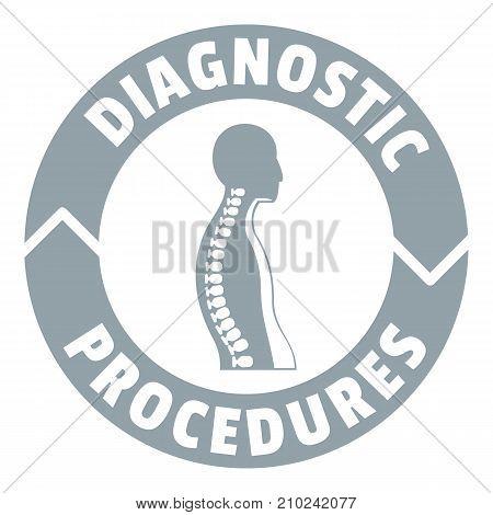 Diagnostic procedures logo. Simple illustration of diagnostic procedures vector logo for web