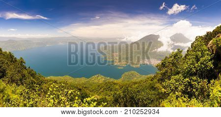 Panoraramic View Of Lake Atitlan