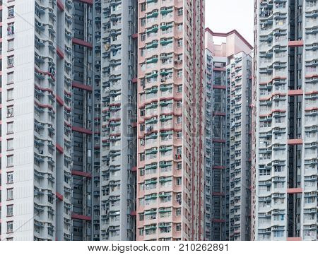 Real estate building in Hong Kong