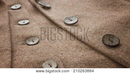 Suit jacket for his button details and accessories