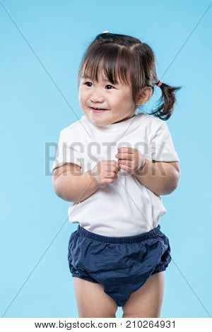 Little Baby girl feeling nervous
