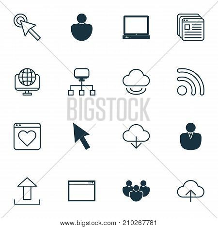 Connection Icons Set. Collection Of Wifi, Mouse, Account And Other Elements