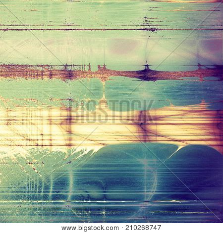 Decorated texture, antique vintage background with different color patterns