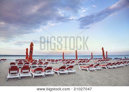 Chaise Longue On The Beach