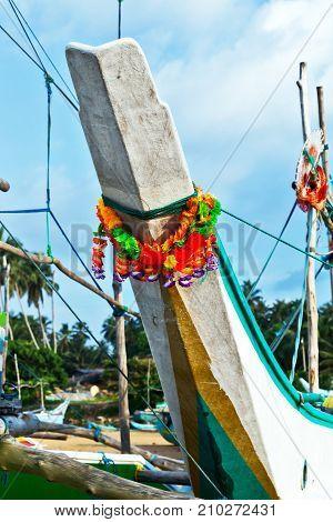 Sri Lanka Fishing Catamarans, Old Fish Boats