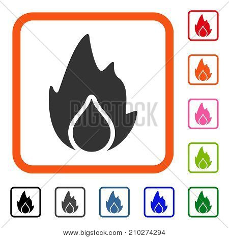 Fire Water Drop Icon Vector Photo Free Trial Bigstock