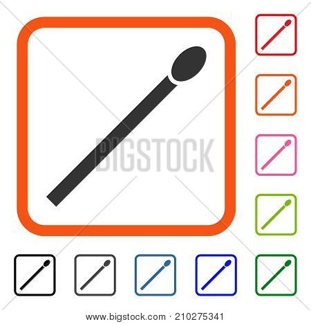 Match icon. Flat grey iconic symbol in an orange rounded rectangle. Black, gray, green, blue, red, orange color versions of Match vector. Designed for web and app UI.