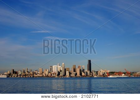 Blue Sky Over Seattle