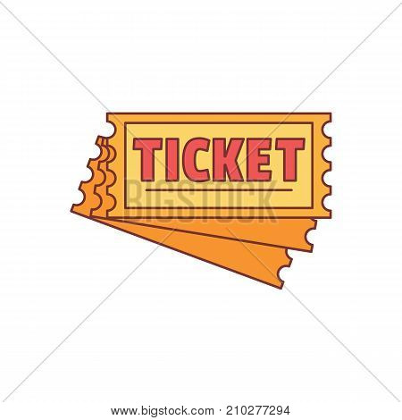 Ticket icon. Cartoon illustration of Ticket vector icon for web isolated on white background