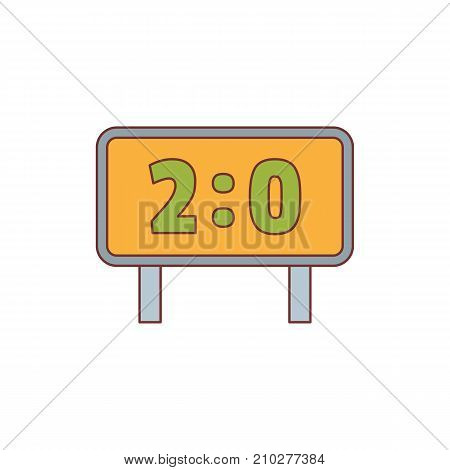 Scoreboard with result display icon. Cartoon illustration of Scoreboard with result display vector icon for web isolated on white background