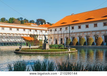Wallenstein Palace Currently The Home Of The Czech Senate In Prague, Czech Republic
