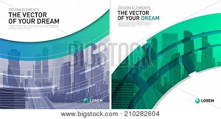 Design element for corporate graphic layout. Modern background template design for investment, business, real estate, construction.