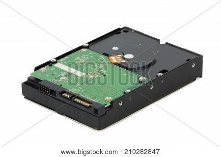Hdd. Hard Disk Drive Isolated On A White Background