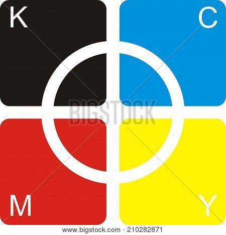 modern corporate logo design overlap boxes, circle, triangle, colorful, bright, rainbow, creative, art