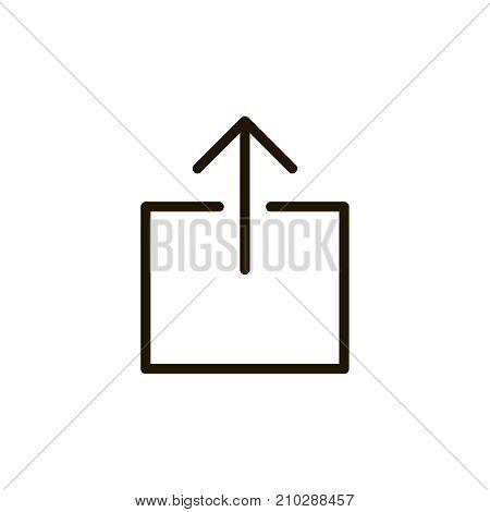 Upload flat icon. Single high quality outline symbol of button for web design or mobile app. Thin line signs of internet for design logo, visit card, etc. Outline logo of web