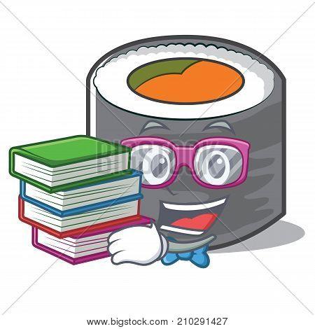 Geek sushi cartoon character style vector illustration