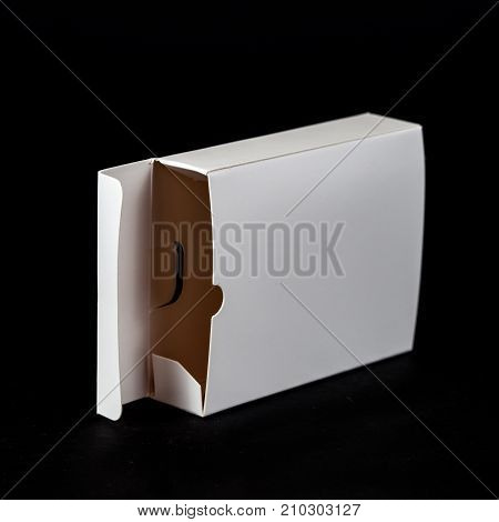 box white paper packaging background isolated package blank pack cardboard gift view empty object carton container store storage square design mockup shape delivery