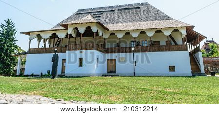 Targoviste Romania - August 15 2017: Dionisie Lupu's House in the Princely Court in Targoviste Dambovita Romania.