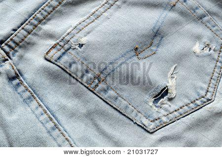 Back of old Jeans