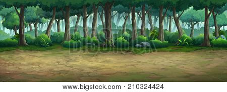 Picture painted of the forest at daytime