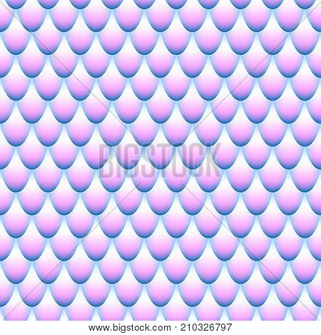 Blue and pink seamless pattern. Mermaid scales. Abstract gradient background. Fish scales. Stock vector