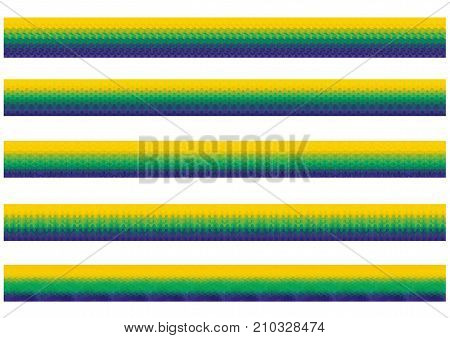 Vector geometric background in Brazil flag. Brazil Flag of geometric shapes.