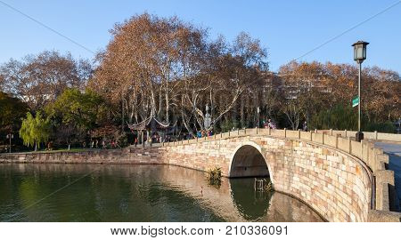 West Lake, Famous Park In Hangzhou City