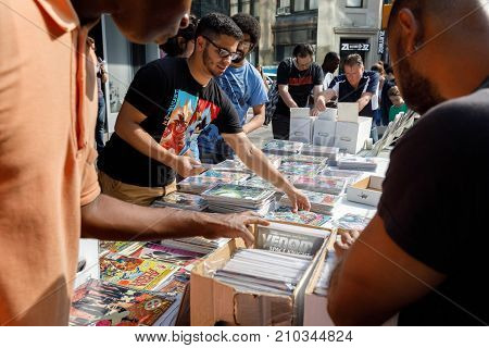 Street Sale Of Comics In Manhattan In New York City