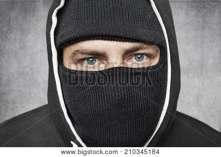 Close-up On The Eyes, Masked Man Remains Incognito