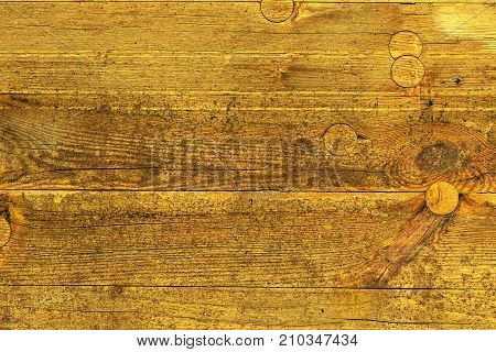 Yellow form board texture as background. Plasterboard surface for concrete work in construction industry.