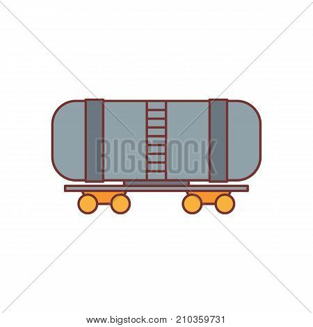 Railway wagon oil icon. Cartoon illustration of Railway wagon oil vector icon for web isolated on white background