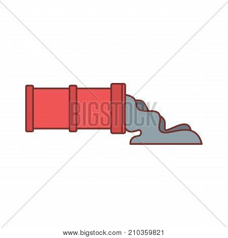 Pipe with oil icon. Cartoon illustration of Pipe with oil vector icon for web isolated on white background
