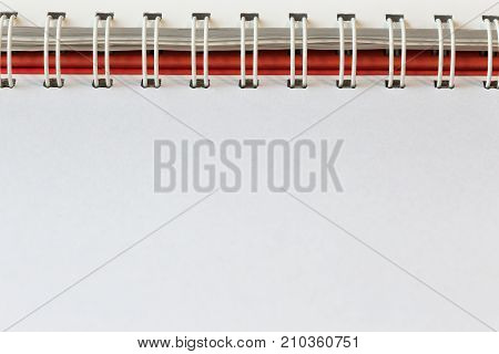 Notepad with clean sheets binding with spiral