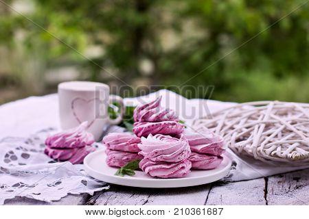 Homemade Marshmallows. Pink Marshmallows.