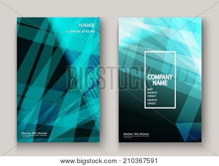 Modern Technology Striped Abstract Covers Design Cyan. Neon Lines Background Frame. Trendy Geometric