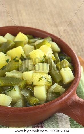 Potato and Green Bean Hotpot