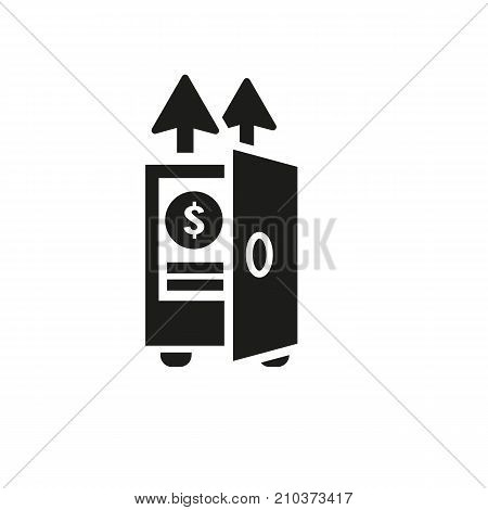 Icon of bank deposit. Economy, income, profit. Saving money concept. Can be used for topics like finance, investment, depository