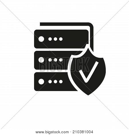 Icon of safe deposit box. Economy, locker, protection. Saving money concept. Can be used for topics like finance, banking, depository