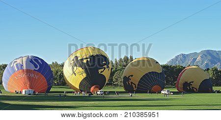 COLORADO SPRINGS, COLORADO - SEPTEMBER 4 2010: The 34th annual Colorado Balloon Classic.