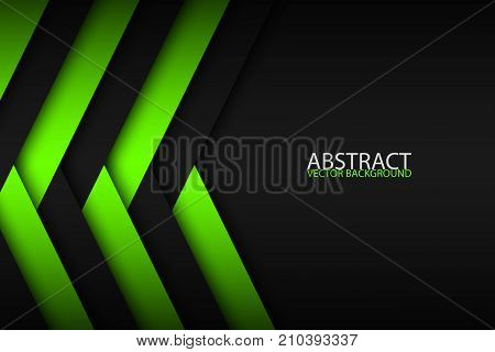 Abstract background with green and black layers above each other modern design template for your business vector illustration with oblique stripes and lines