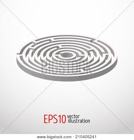 Labyrinth, maze intricacy abstract Vector illustration 3d