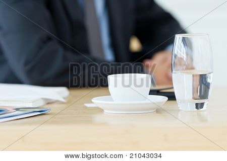 half-empty glass of water