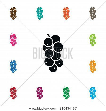 Sweet Vector Element Can Be Used For Redcurrant, Sweet, Edible Design Concept.  Isolated Edible Icon.