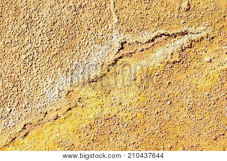 Orange And Yellow Texture In The Area Of Rio Tinto Mines, Minas De Riotinto