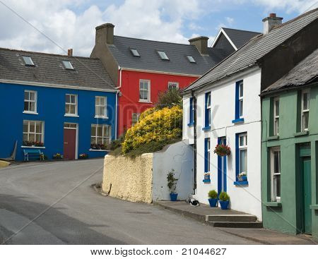 Village street in Eyeries, West Cork, Ireland