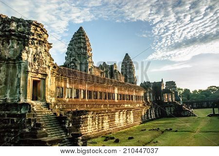 Inner temple complex at Angkor Wat Cambodia.