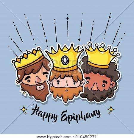 epiphany catholic holiday celebration design vector illustration