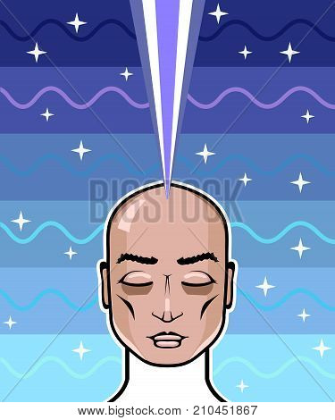 Astral Projection Vector Illustration Clip-art Image Eps