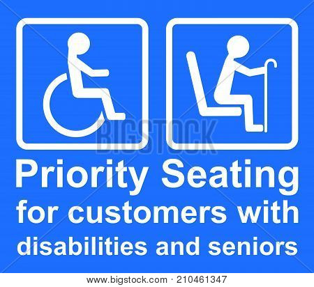 Priority Seating For Customers With Disabilities And Seniors
