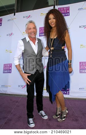 Dave Koz and Judith Hill arrive at the taping of